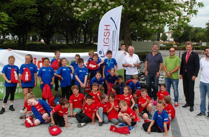 Kidsmeal sponsort Mittagessen und Turnbeutel für Feriencamp IG Sport Heddesheim